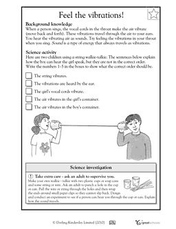 Feel the vibrations! Worksheets & Activities