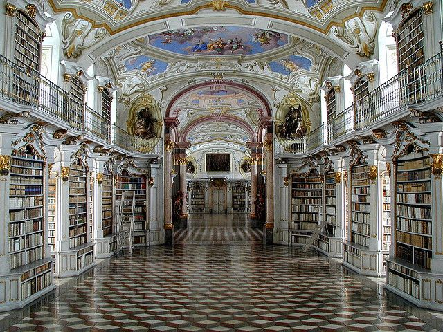 Admont Benedictine Monastery Library. I would walk through here with my mouth hanging open.