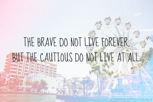 the cautious do not live at all: Inspiration, Life, Quotes, Truth, Wisdom, Thought, Be Brave, Princess Diaries