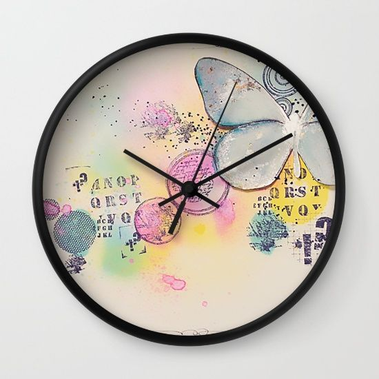 Buy Butterfly in the bubbles Wall Clock by nicolettazanella. Worldwide shipping available at Society6.com. Just one of millions of high quality products available.
