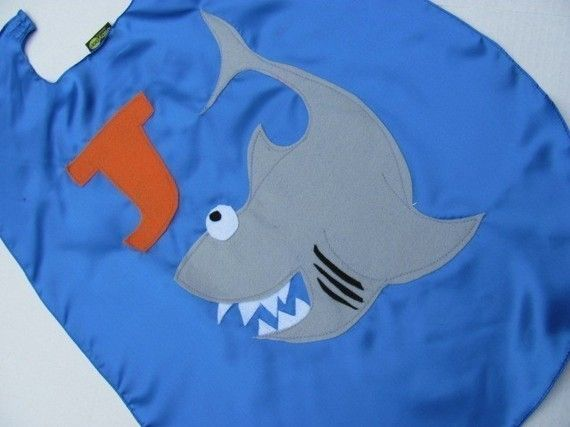Childrens Superhero Shark Cape  Capes Custom Personalized  by babypop, $25.00 #kids #superhero