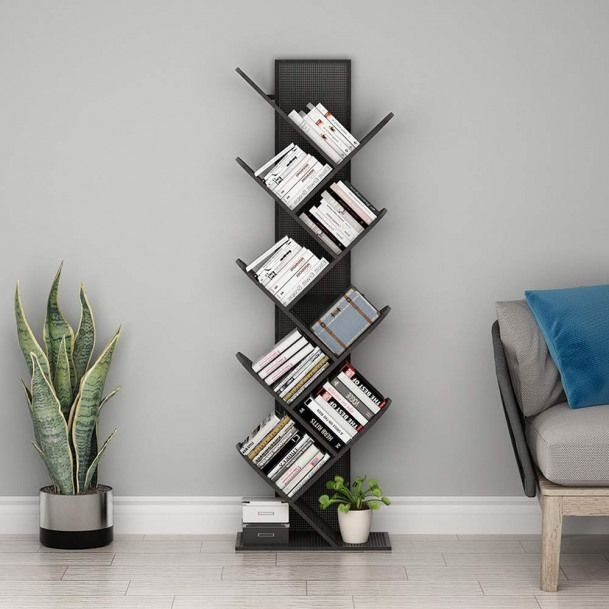 Tribesigns 8 Regal Baum Bucherregal Metall Bucherregal Kleines Bucherregal Kompakte In 2020 Mit Bildern Bucherregal Aus Metall Aufbewahrung Regal Kinderzimmer Ankleideraum Design