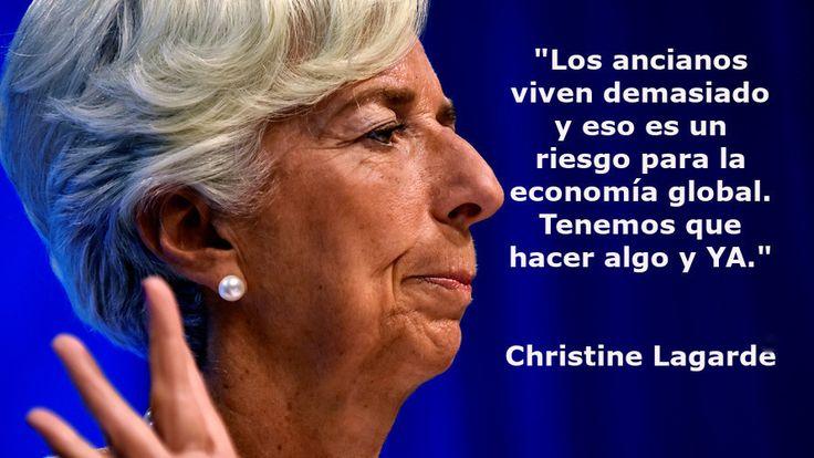 Christine Lagarde sostiene que los ancianos viven demasiado y son un peligro para la economía mundial http://www.eldiariohoy.es/2017/09/christine-lagarde-sostiene-que-los-ancianos-viven-demasiado-y-son-un-peligro-para-la-economia-mundial.html?utm_source=_ob_share&utm_medium=_ob_twitter&utm_campaign=_ob_sharebar #pensiones #pensionistas #lagarde #FMI #ancianos