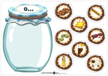Słój z ciasteczkami z głoską [o] - pozycja głoski w wyrazie - Printoteka.pl
