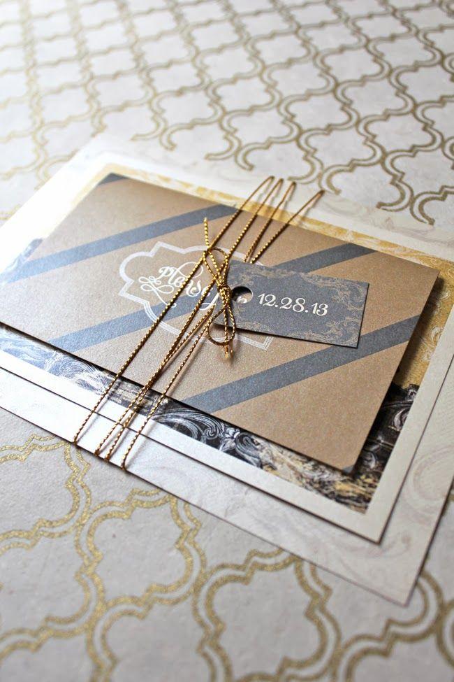 loveleigh invitations: work wednesday: kelly + nicholas.