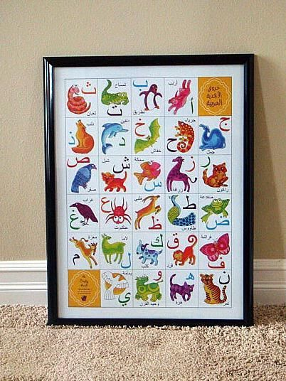 Arabic Alphabet Animal Poster by A Crafty Arab