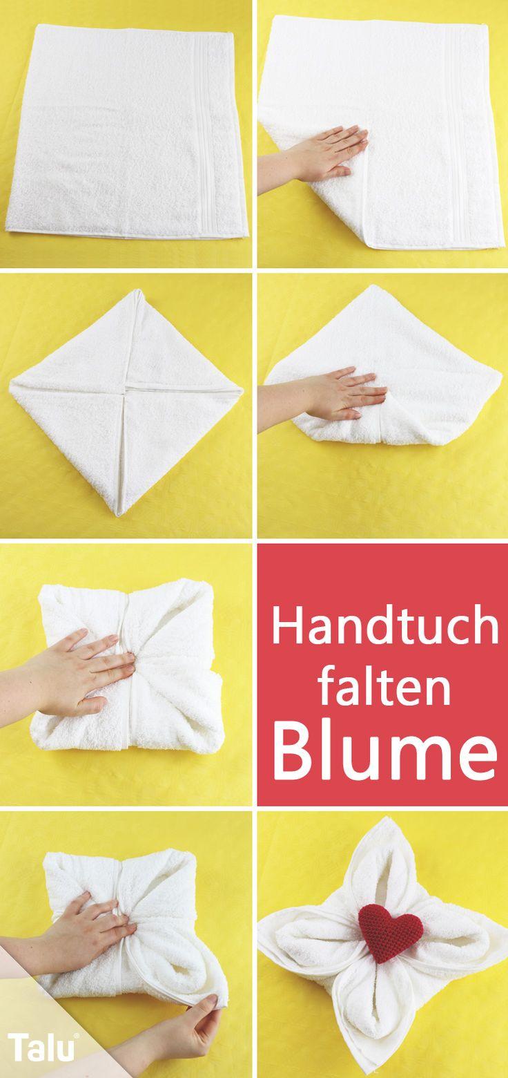 Kostenlose Anleitung - Handtücher falten - Blume - Talu.de
