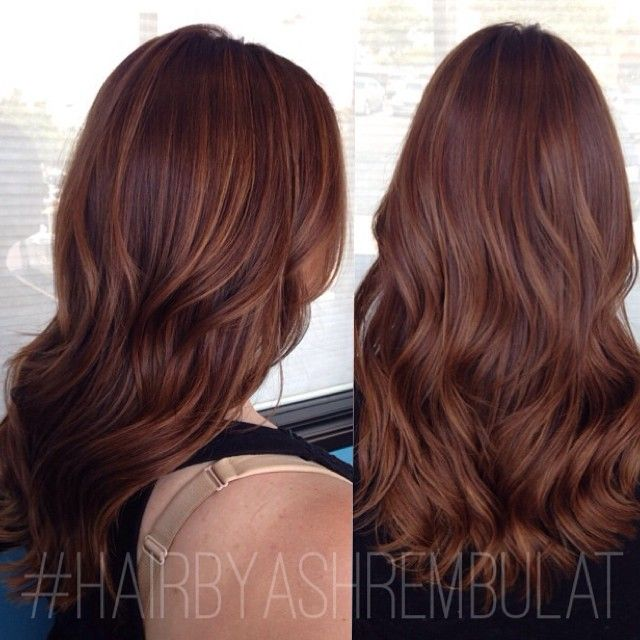 Dark brown hair with light brown tips