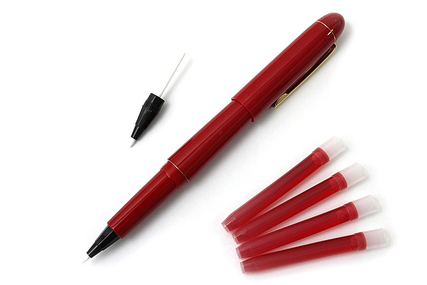 Pilot Sign Pen + Spare Nib + 4 Ink Cartridges - Red http://www.jetpens.com/Pilot-Sign-Pens-Spare-Nib-4-Ink-Cartridges/ct/1593