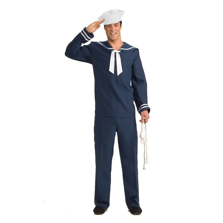 Ahoy Matey Sailor Costume - Adult, Men's, Blue