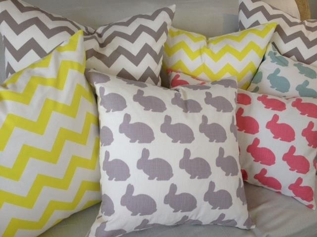 Victoria & Hunt fabrics in cushions (part 1).