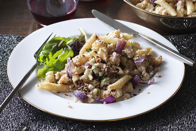 Penne with Roasted Cauliflower, Ricotta and Parmesan