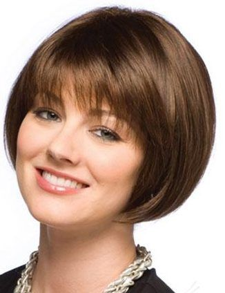 Brown Short Bob Hairstyles Brown Bob Formal Short Hairstyle For