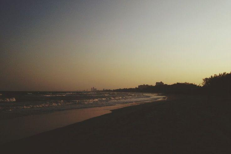 Sunset in Cha-am Beach