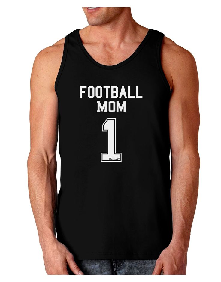 Football Mom Jersey Dark Loose Tank Top