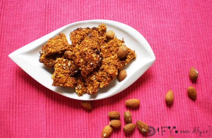 Datlovo-mandlové sušenky z dýňového pyré