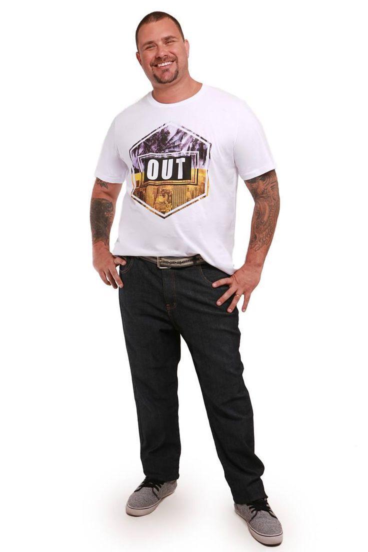 T Shirt e Calça skinny Kauê Plus