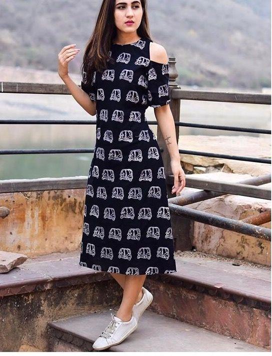 Cotton dress - stitching reference
