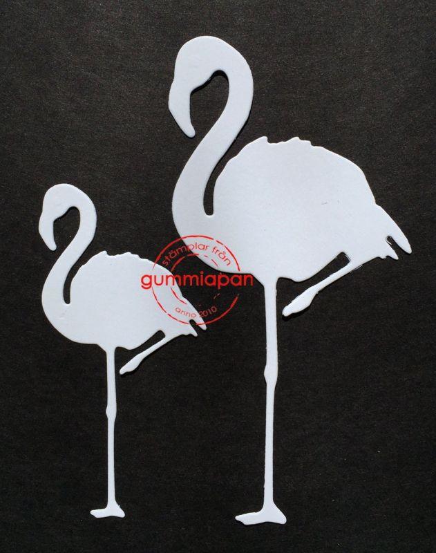 Gummiapan die d160403 Flamingos