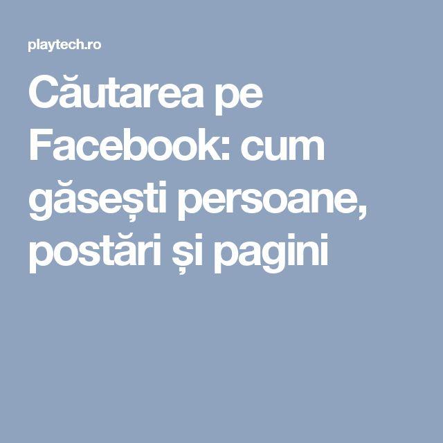 Căutarea pe Facebook: cum găsești persoane, postări și pagini