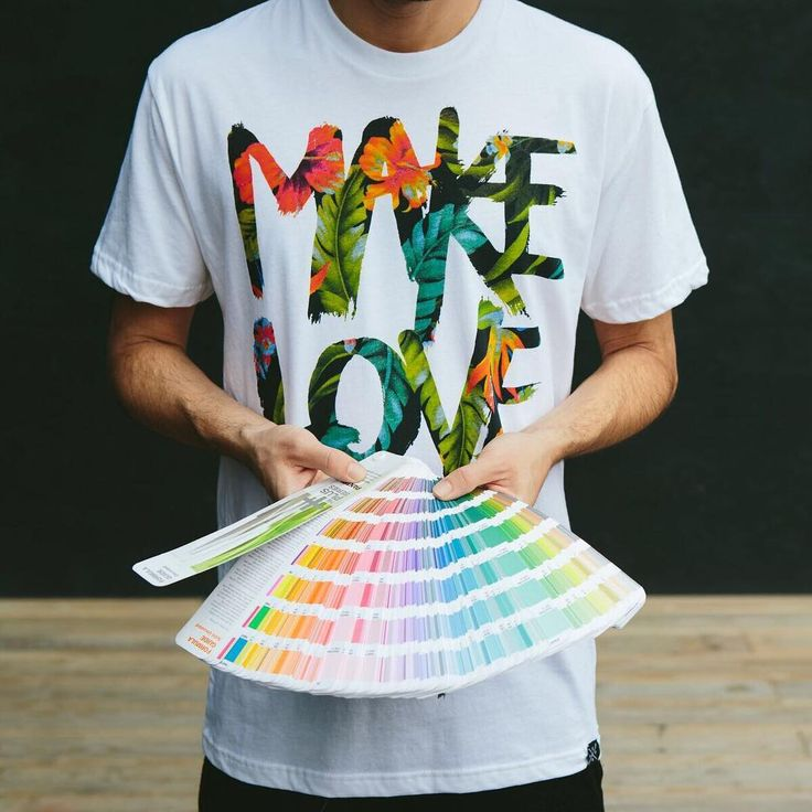 Real Thread Make Love printed t-shirt and pantone book