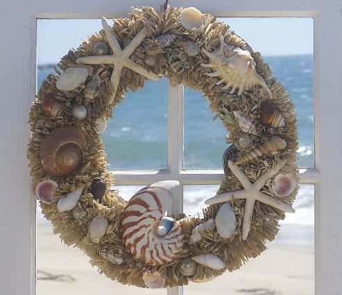 129 Best Images About Shell Wreaths On Pinterest Summer