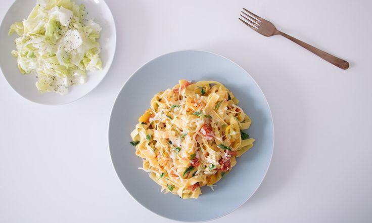 Fetuccini con Mozzarella Fresco