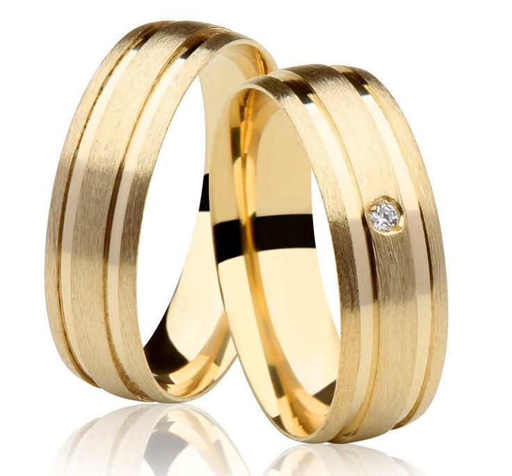 alianças de casamento com diamante