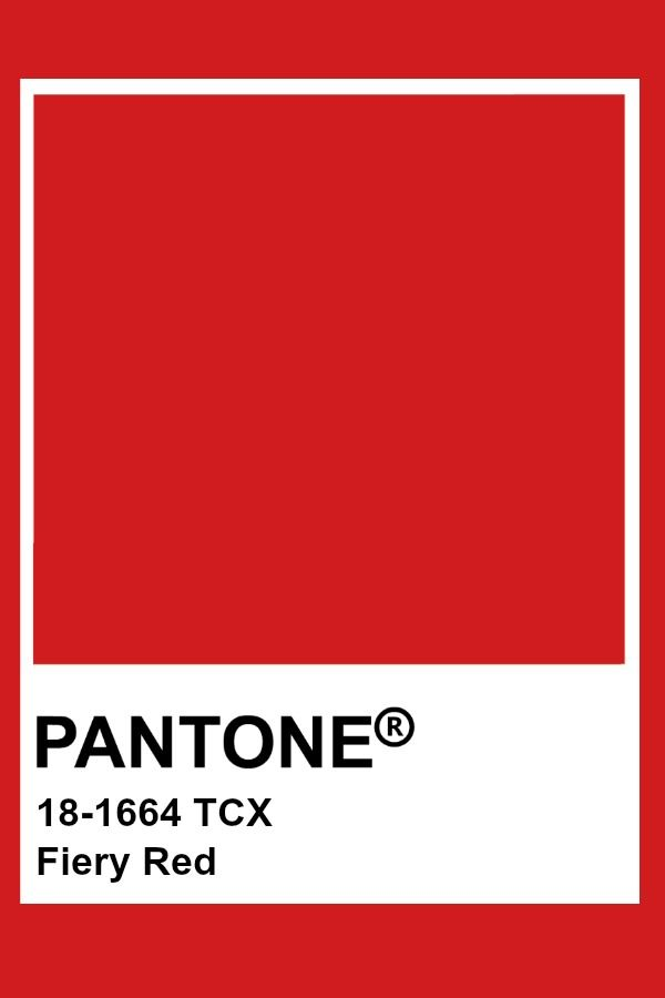 Pantone Fiery Red | Colors | Rouge pantone, Nuance couleur ...