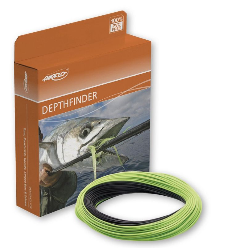 The Airflo Depthfinder series fly lines are most excellent for conditions when you want to present a fly deep, and present it down there quickly. Free shipping and no sales tax.  The Depthfinder has a 30' ultra fast sink tip and a long easily shootable integrated running line.  These Airflo fly lines are in the genera of the Teeny fly lines and the Rio Big Boy long head sink tip fly lines.  The Airflo Depthfinder fly line will definitely put you deeper, and so so faster than any 10'or`5'…