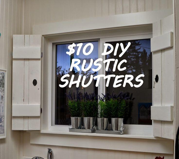 25 best ideas about rustic shutters on pinterest wood for Shutter window treatment ideas
