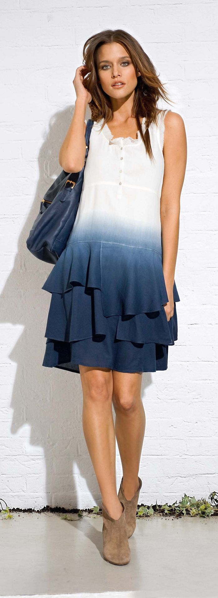 "Ombre dyed dress - CLICK TO READ ""Trends for Spring & Summer: Clothes for Real Women Over 40"" at http://boomerinas.com/2013/04/trends-for-spring-summer-clothes-for-real-women-over-40-2/"