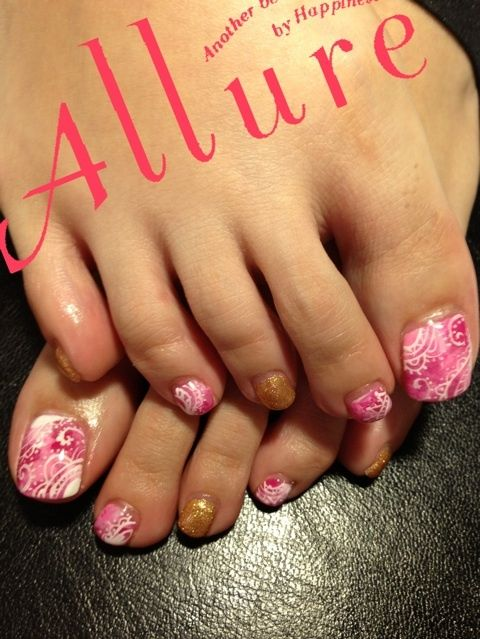 30 best toe nail designs images on pinterest nail designs toe ill call this strawberries and cream original is tye die paisley toenail art designspedicure designsfingernail prinsesfo Gallery