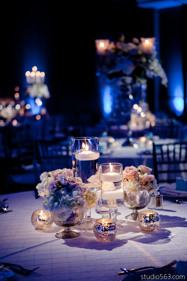 Beautiful Ice Blue and Frost White Wedding winter wedding theme at Hyatt Lost Pines in Austin, Texas by Kennedy Creative. Photo by Studio 563 Photography, and rentals by Premiere Party Central. http://www.PremierePartyCentral.com