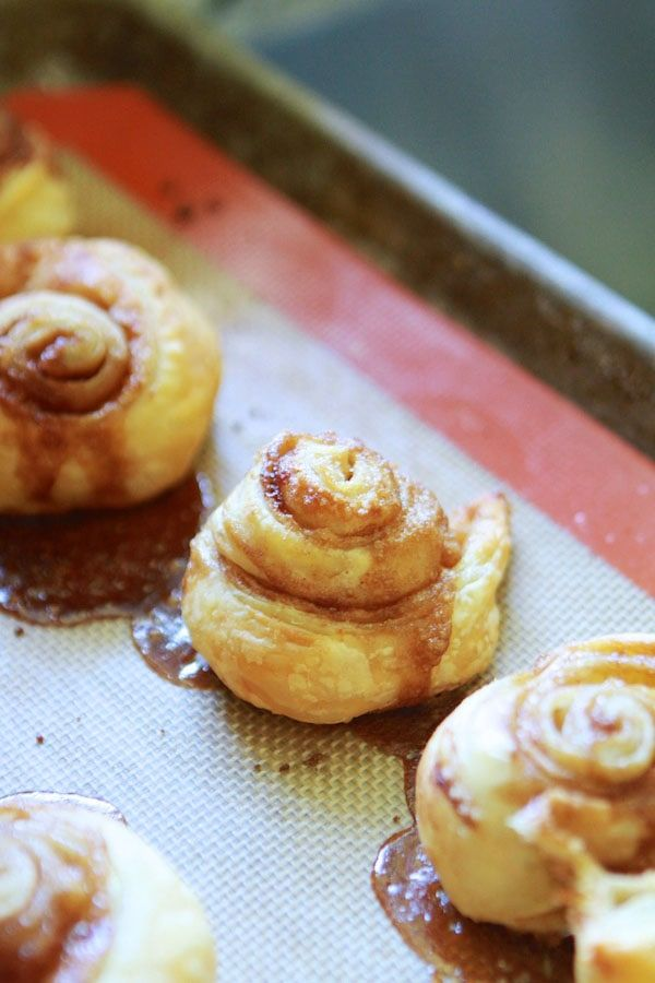 Easy Cinnamon Rolls Made With Puff Pastry Recipe Cinnamon Rolls Puff Pastry Recipes Gluten Free Puff Pastry