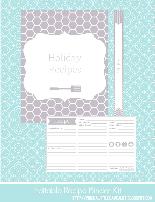 free recipe templates for binders.html