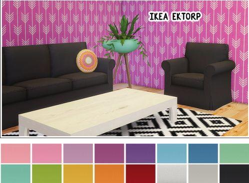 Linacherie Ikea Ektorp Armchair Loveseat Sofa Sims
