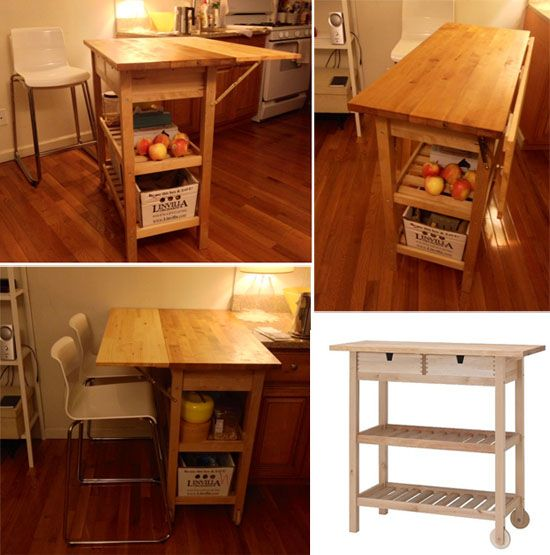 counter top and table all in one this is genius a bar cart kitchen center islandsmall kitchen islandsikea