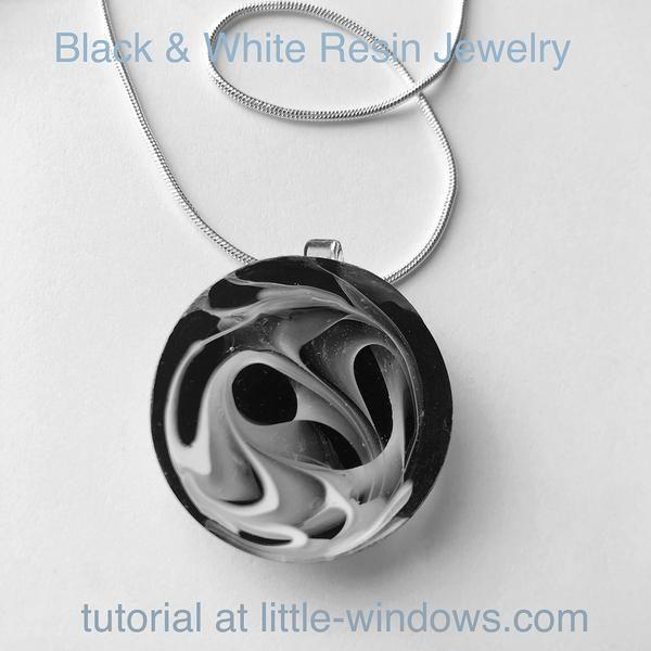 Black & White Resin Tutorial – Jewelry, badge holder, barrettes, Decor – Little …