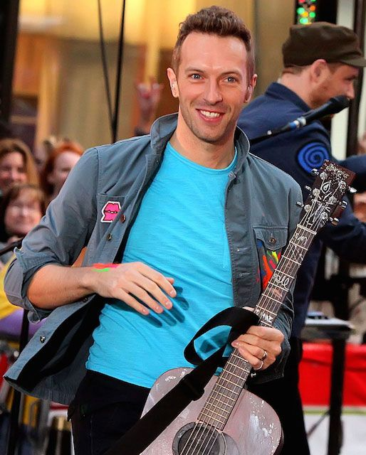 Coldplay lead vocalist, Chris Martin with his guitar...