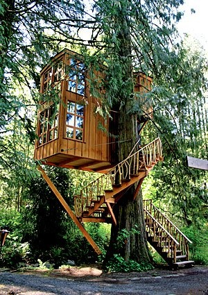 Trillium Treehouse B & B, Washington.