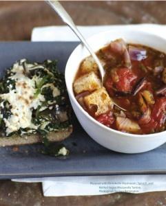 Portobello Mushroom, Spinach and Vegan Mozzarella Tartines | Vegan ...