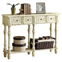 Imperial Console Table In Antique White Interior Design