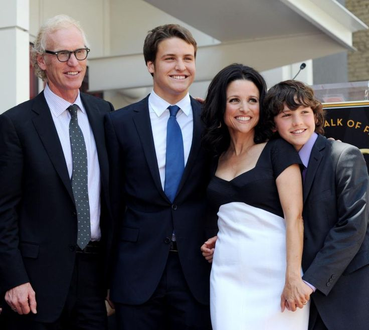 Julia Louis-Dreyfus and husband  Brad Hill  have been married since 1987.   Their boys are Henry and Charles.