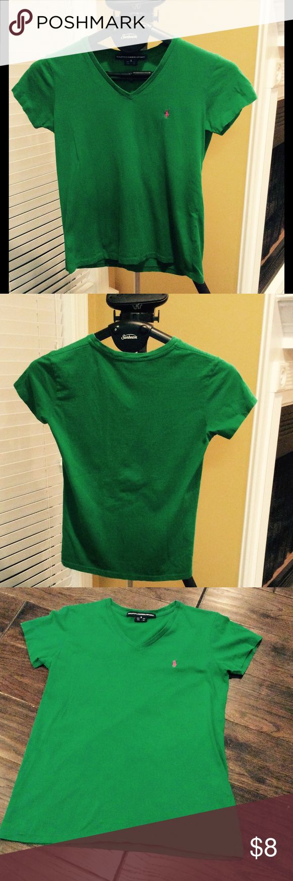 Polo Tee Shirt Green polo tee shirt. In good condition! Polo by Ralph Lauren Tops Tees - Short Sleeve
