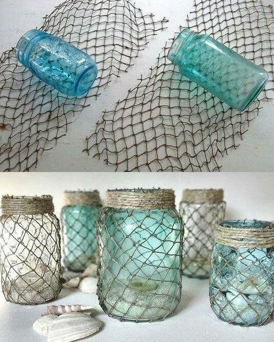 Authentic Recycled Fishing Net, Fish Netting Decor, Decorative Fishnet, Nautical - Other
