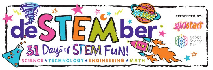 deSTEMber month full of ways to enjoy STEM (science technology engineering math) every day there is an activity, something to read about, something to learn and enjoy
