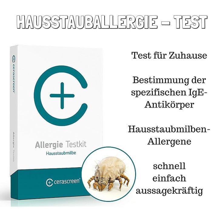 Der cerascreen Hausstauballergie-Test ist ein Probenahme- und Einsendekit. Der Test dient zur Bestimmung der spezifischen IgE-Antikörper gegen die im europäischen Raum am häufigsten vorkommenden Hausstaubmilben. Der Hausstauballergie-Test beinhaltet die kostenlose Auswertung im Diagnostik-Fachlabor und einen ausführlichen Ergebnisbericht.