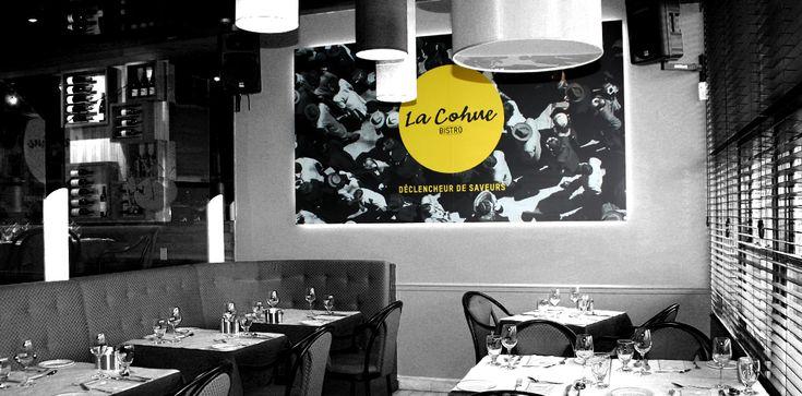 La Cohue / Habillage au restaurant / Beez Créativité Média