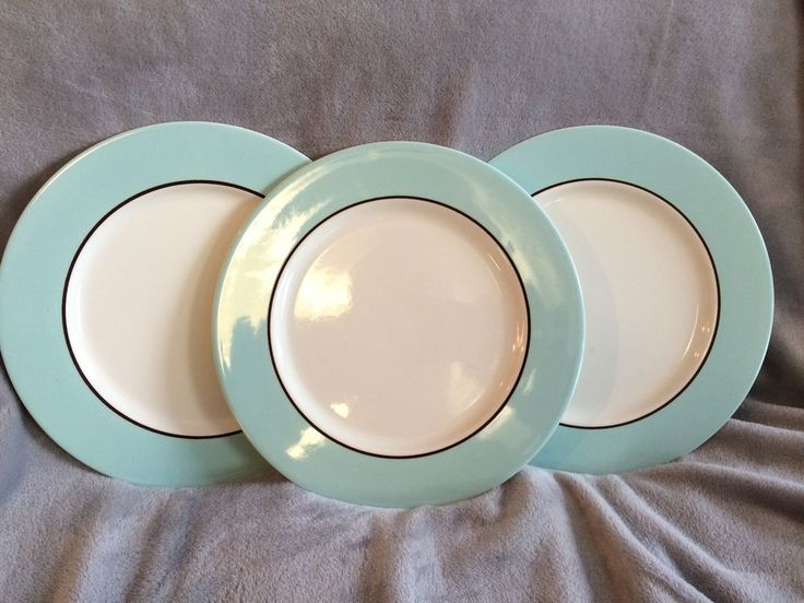 Pagnossin Audrey Treviso Robin Egg Blue Dinner Plates Set